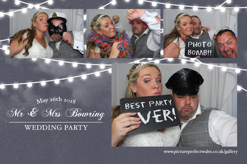 A HUGE congratulations to the new Mr & Mrs Bowring who celebrated their Wedding Day at The Six Bells in Penmark on Saturday 26th May. Thank you so much from all here at Picture Perfect Wales for choosing us to hire your photobooth it was great to meet you all